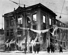 1919-Opera House Fire   Large icicles, some more than two-feet long, created an eerie scene for spectators after an evening fire completely gutting the Olympic Theater, at the corner of 7th and Polk Street, formerly known as the Amarillo Opera House, in 1919.