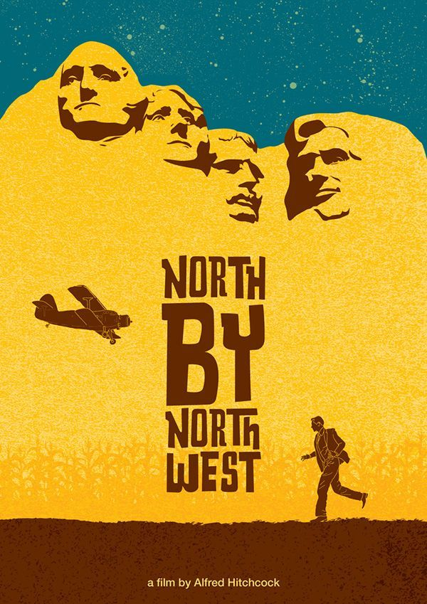 Cool Movie posters: North by Northwest (1959) ~ Minimal Movie Poster by Ivan Petrusevski #amusementp... плакаты Check more at http://kinoman.top/pin/12760/
