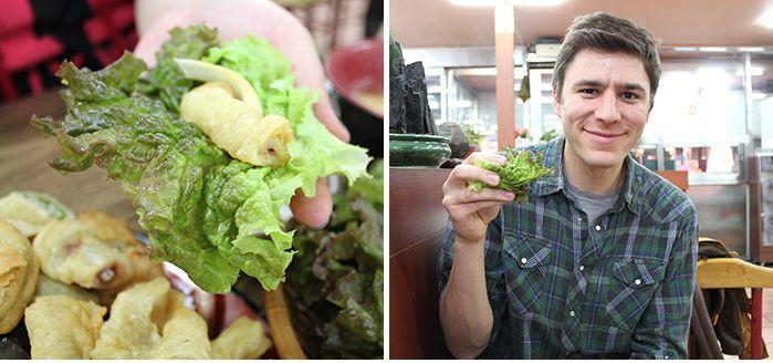 Tour de comida coreana por Gwangju |Sangchu twigim