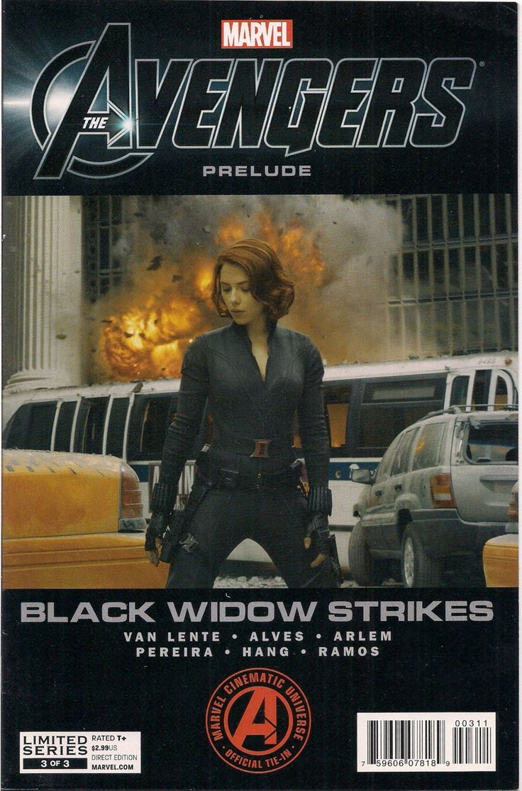 Marvel Comics AVENGERS Prelude #3 of 3 Black Widow Scarlett Johansson Nick Fury Fred Van Lente Wellington Alves Renato Arlen Nelson Pereira