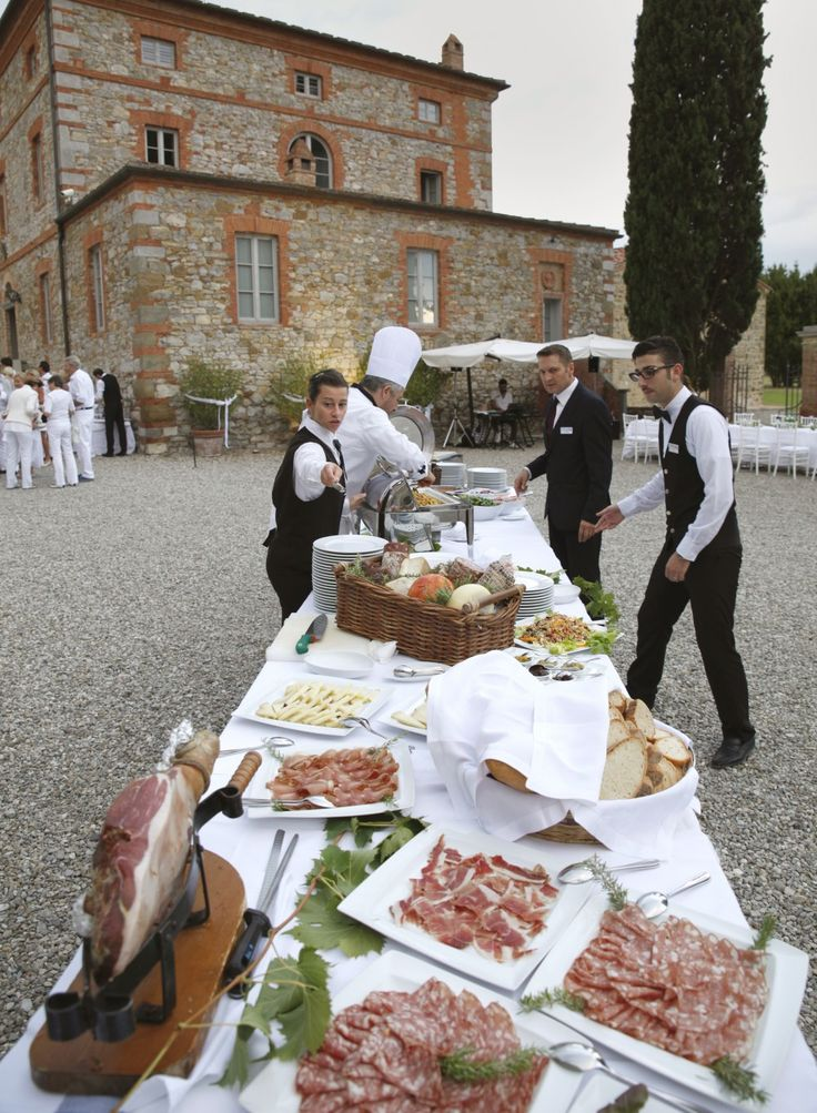 Italian catering with gourmand specialties
