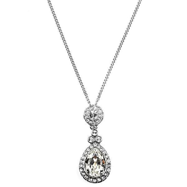 Givenchy Swarovski Crystal Teardrop Necklace