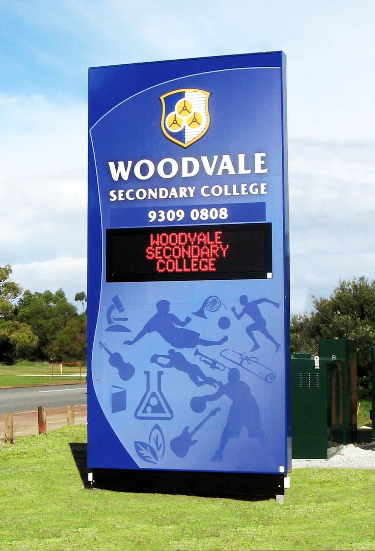 Woodvale Secondary College #CSI #CorporateSignIndustries #200 #series #custom #Design #signage #LED school #recognition #identity #sign