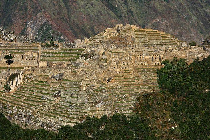 Machu Picchu as seen from Putucusi, Peru.