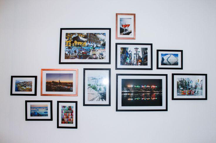 Væggalleri med egne billeder