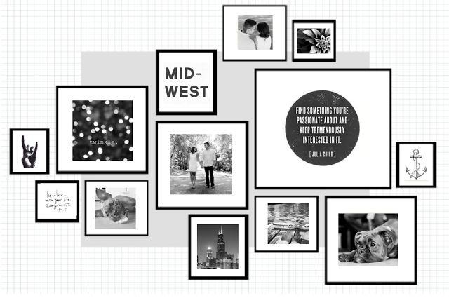 les 9 meilleures images du tableau mur de photos sur pinterest disposition de mur de la. Black Bedroom Furniture Sets. Home Design Ideas
