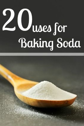 20 different uses for baking soda - so many uses for this one little product!