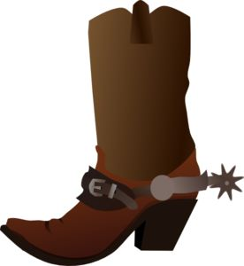 Cowboy Boot with spur