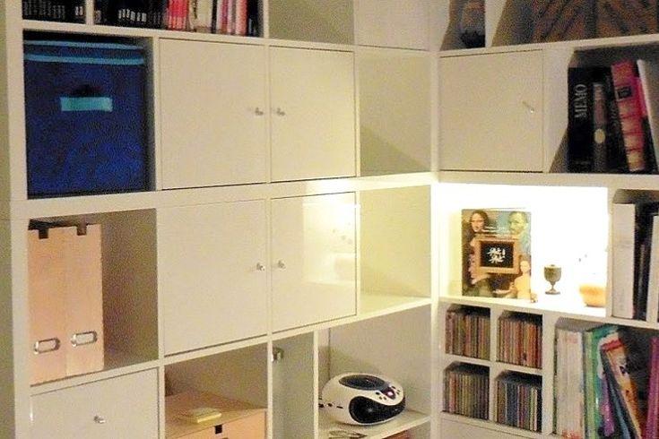 A Made To Measure Kallax Corner Bookcase Meuble Kallax Diy Ikea