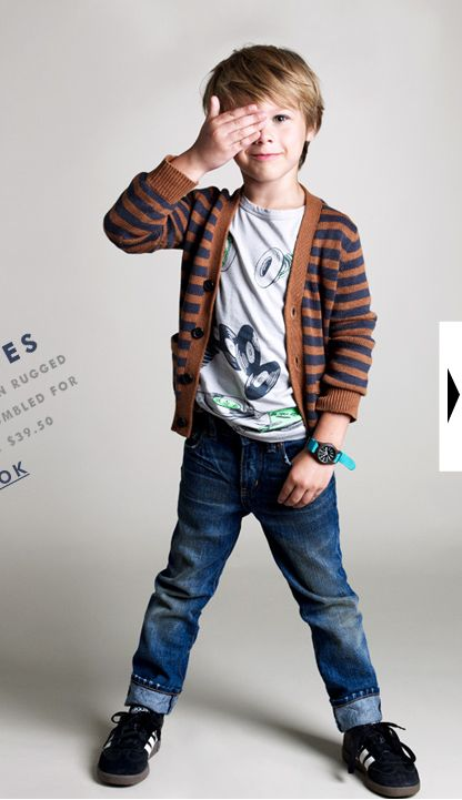 Seriously, MORE little boys need to wear cardigans.  So great!  (Crewcuts)