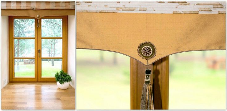 A view of the forest through meranti window glass made to order. Window blinds are Roman blinds.