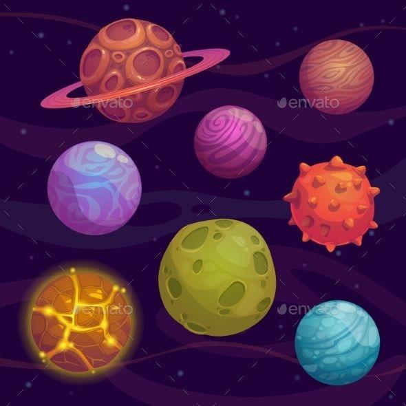Set of Cartoon Planet Vector EPS. Download here: https://graphicriver.net/item/set-of-cartoon-planet/13198048?ref=ksioks