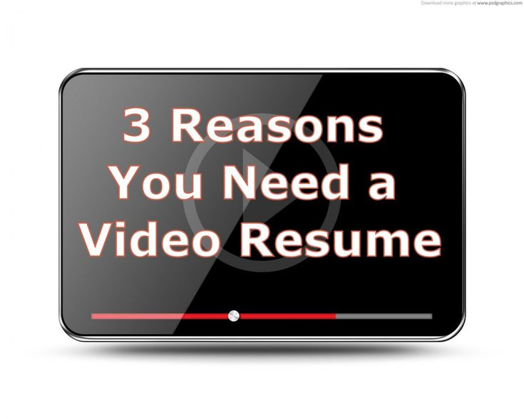 a video resume can help you stand out this pin - Video Resume