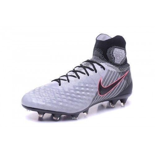 Salg Nike MagistaX Proximo II FG Hvit Gra Rod Fotballsko