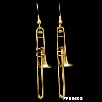 trombone earrings...i would totally get my ears pierced just to wear these