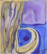 Composition bleu et violet par Philippe Hosiasson