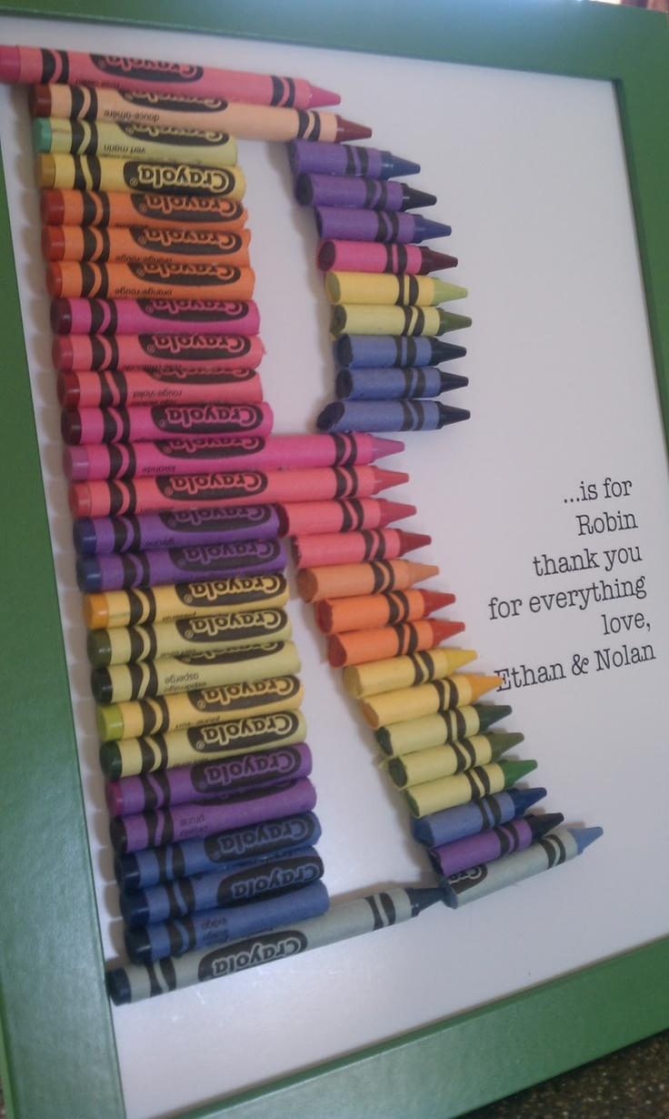My crayon monogram!! #Crayon #monogram