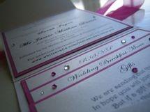 wallet wedding invitation