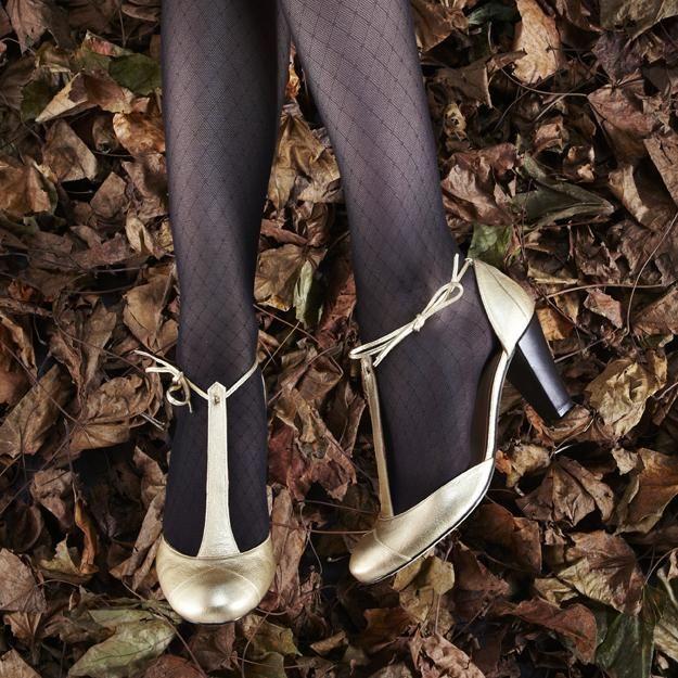 Jolies chaussures dorées