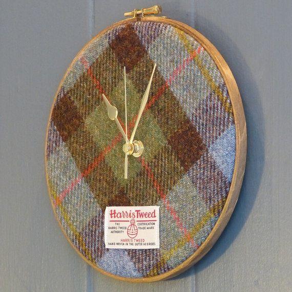 Harris Tweed Clock Macleod Tartan by JuniperandJane on Etsy, £49.95