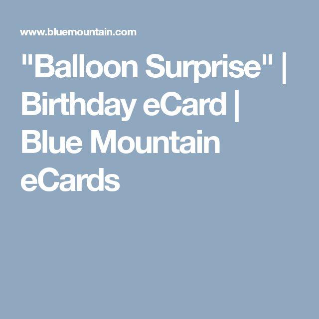 """Balloon Surprise"" | Birthday eCard | Blue Mountain eCards"