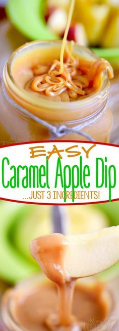 This Easy Caramel Apple Dip has just 3 ingredients! Perfect for dipping apples or topping your favorite dessert! An irresistible treat that everyone will love! | Mom On Timeout