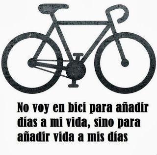 Si vas en bici, ganarás en salud física y tu cuerpo, el día de mañana, te lo agradecerá.
