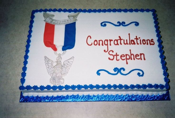 Eagle Scout Cake  on Cake Central                                                                                                                                                     More