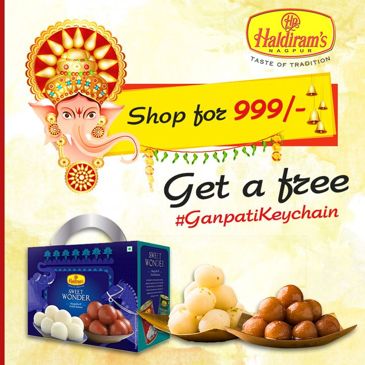 Get a Free #GanpatiKeyChain with your favorite snack order.