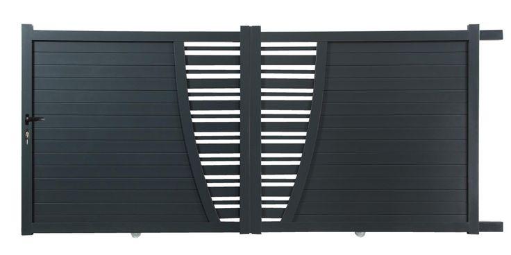 Modèle coulissant (disponible en 3,5 et 4 m) le PREMIUM aluminium se présente comme un portail simple à poser et au design chaleureux. Il est composé de deux vantaux à assembler