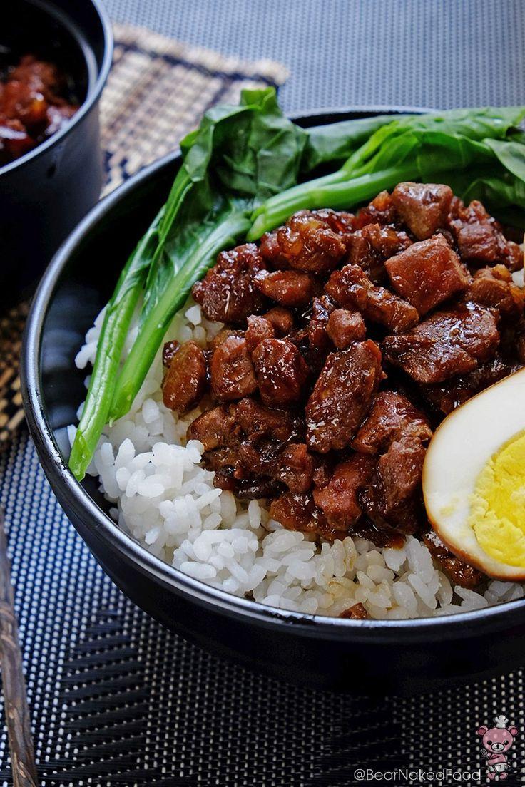 Lu Rou Fan (Braised Pork Rice) 滷肉飯 - Bear Naked Food