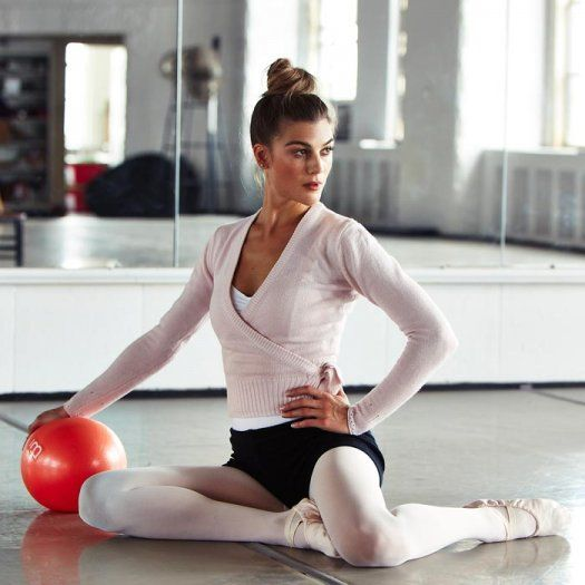 This workout mixes barre and pilates into one super charged workout! Target and tone muscles through your whole body to get a long and lean body like a dancer's. Use a pilates ball and barre to stretch and tone your way to get a great calorie-burning workout.