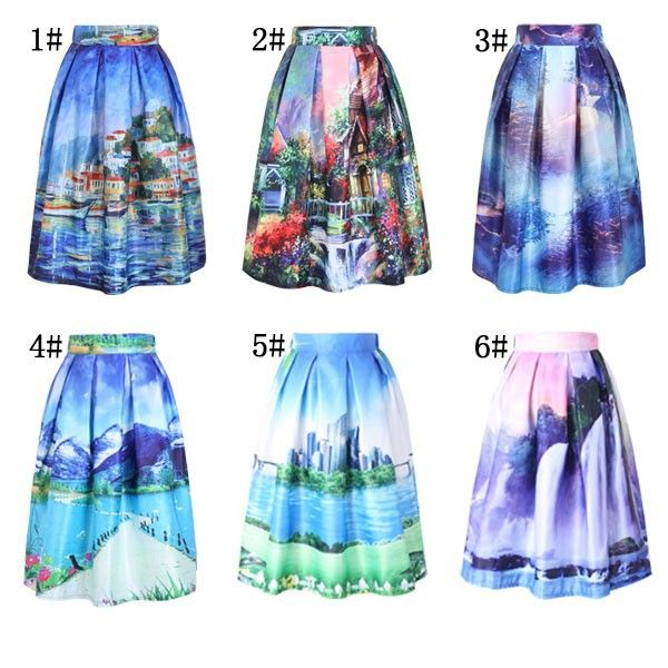 Women's Skirt New Fashion 2015 Autumn Winter Vintage Print Ball Gown Pleated High Waist Midi Skirt Saia For Women Girl 141208-in Skirts from Women's Clothing & Accessories on Aliexpress.com | Alibaba Group