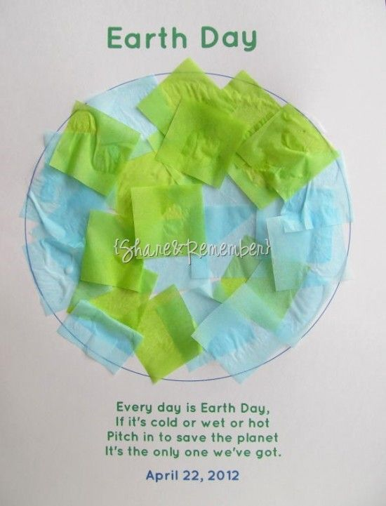 earth day arts and crafts for kids - Google Search