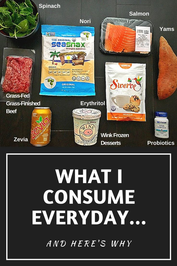 Here are the foods/products I eat every single day... And WHY! @winkdesserts @zevia @WholeFoods @uswellnessmeats @swervesweetie @lifeextension #yams #seaweed