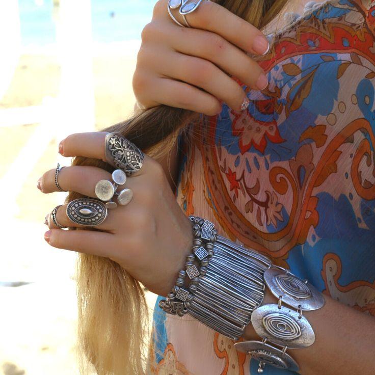 Statement Fashion Elegant Silver Retro Women Unique Wrap Boho Metal Bracelet #Takimania #Statement