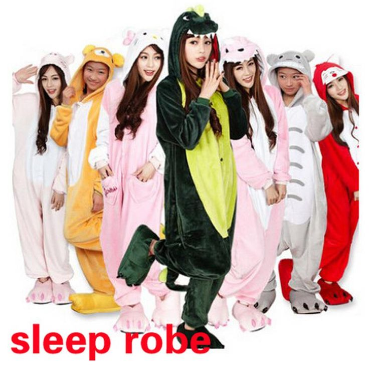 Fashion Unisex Adult Sleep Tops Party Cosplay Animal pajamas Sleep Tops Adult Cartoon Nightgown robe Pikachu/Dinosaur,ty0727