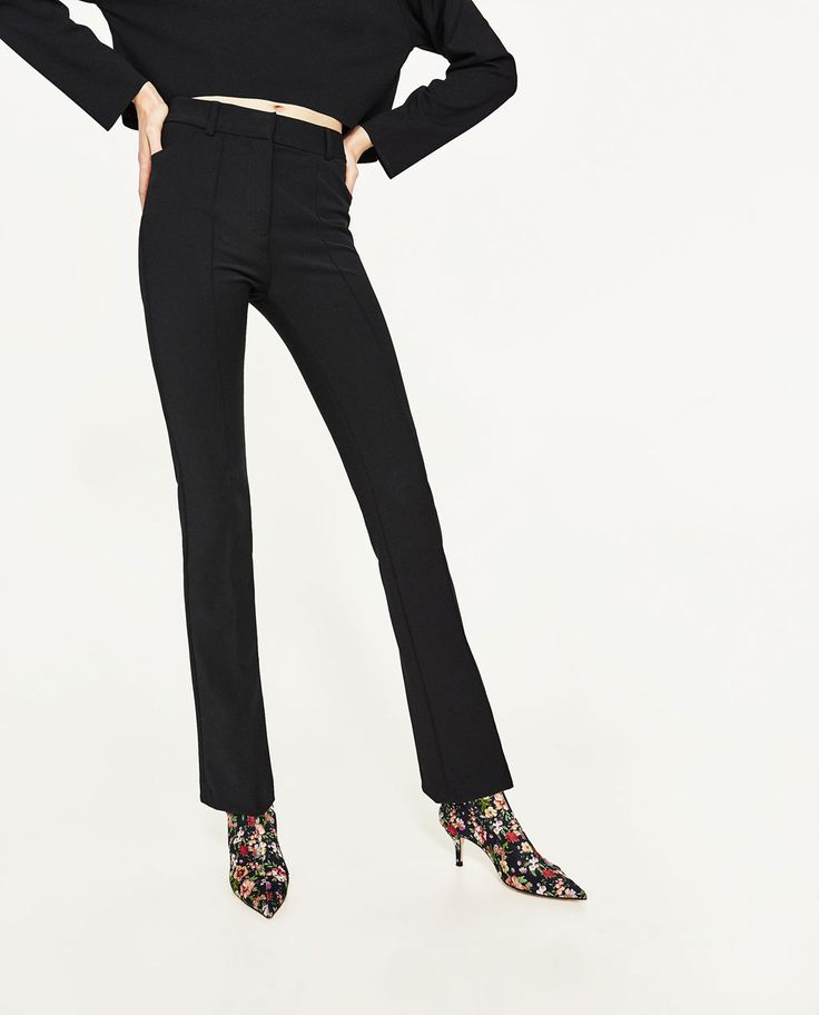 HIGH RISE FLARED TROUSERS-View All-TROUSERS-WOMAN | ZARA United States
