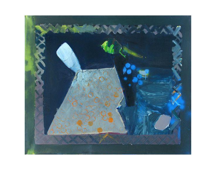 Martwa natura z bordiurą, olej na płótnie, 100x120