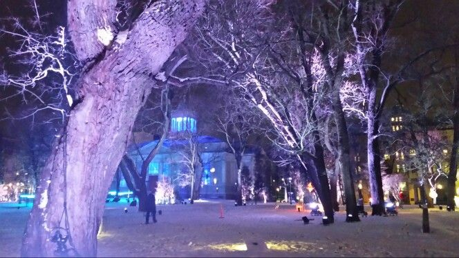 Lux week in Helsinki - so mystic Park and Old Church