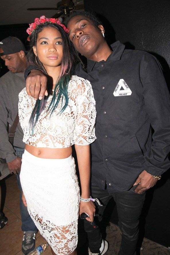 Chanel Iman and ASAP Rocky.