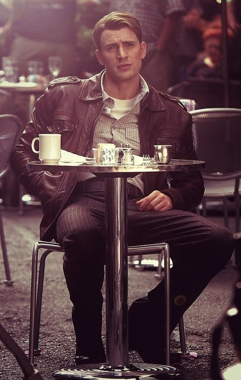 Chris Evans // Captain America...the jacket is my favorite part of his superhero costume