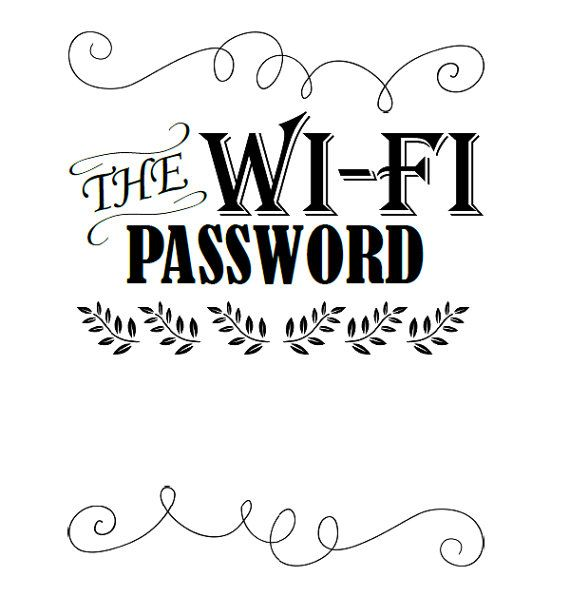 Guest bedroom home WiFi password sign The WiFi by OurWonderfulLife
