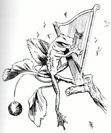 Frog Playing the Harp, 1885