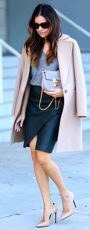 Leather & Nude Street Look