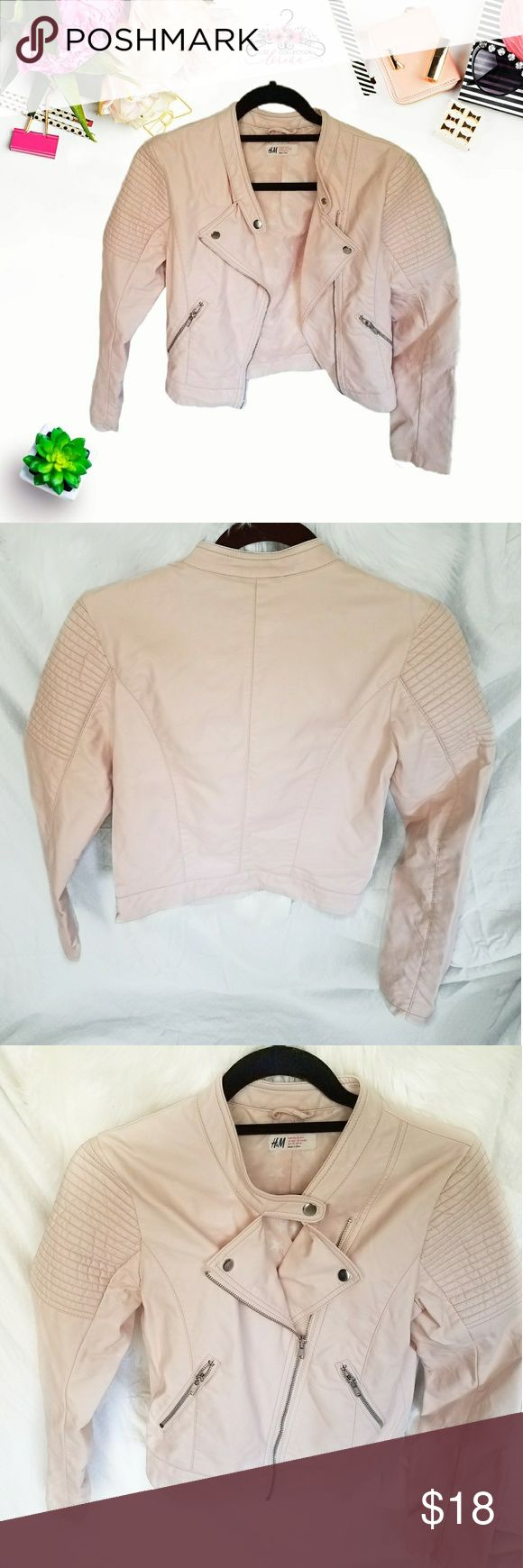 H&M Pink Moto Jacket for Girls Super cute in good