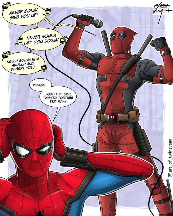 Let's face it, there are just some duos that were simply meant to be. Mario and Luigi. PB and J. But the best of 'em all? Well, obviously everyone's favorite Crimson Comedian and Wall-crawling arachnid! Deadpool and Spidey: Bad besties for life! By @art_of_twinsvega