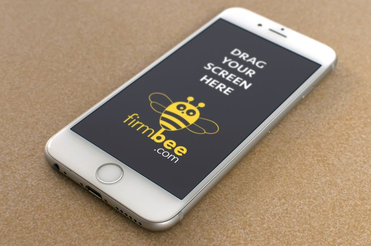iPhone on the brown background. #free #psd #apple #iphone #digital #design #mockup #business #mobile #