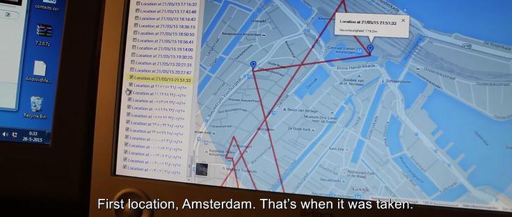 VIDÉO : Grâce à un mouchard installé dans son téléphone volé, Anthony van der Meer a pu suivre et surveiller le quotidien de son voleur.