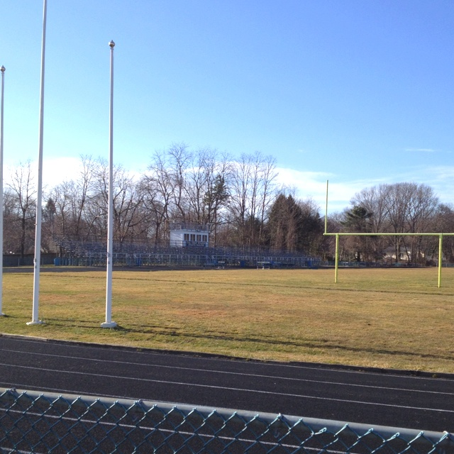 Vintage Stadium Lights: Freehold Borough High School Football Field In Freehold